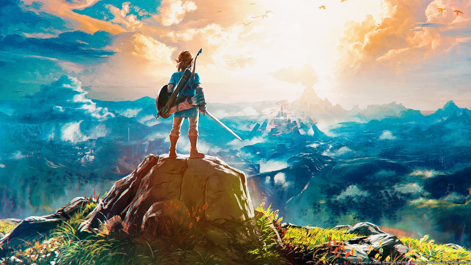 Breath Of The Wild Screensaver: Nintendo Switch (System Update 4.0.0)