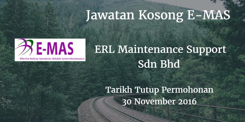 Jawatan Kosong E-MAS 30 November 2016