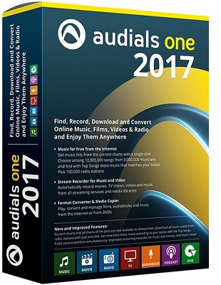 Audials One 2017.1.69.6800 poster box cover