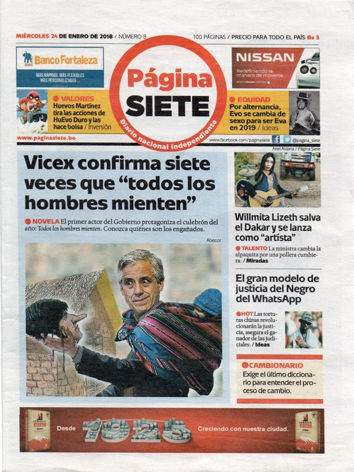 Edición miniatura de Página Siete podría dejar de circular por reclamo del régimen / PÁGINA SIETE