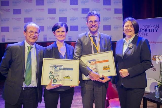 Malmö holt den European Mobility Award vor Skopje