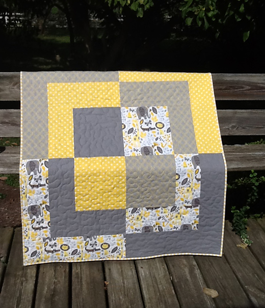 Big Baby Bento Box Quilt Free Tutorial designed by Ronda Cassens of Ronda's Creations