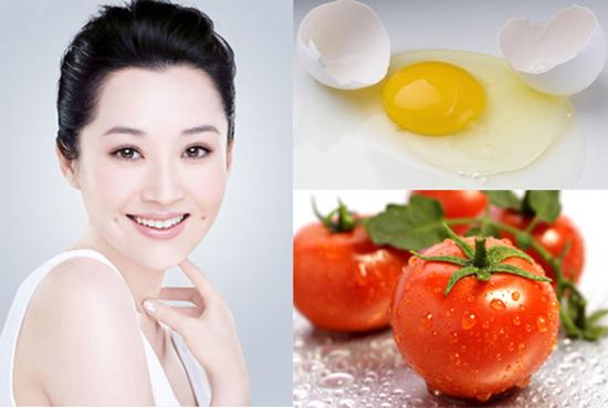 Cách điều trị nám da mặt lâu năm bằng lòng trắng trứng gà và cà chua