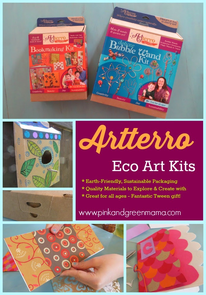 Tween Craft Making Homemade Books With Kids And An Artterro Kit Giveaway