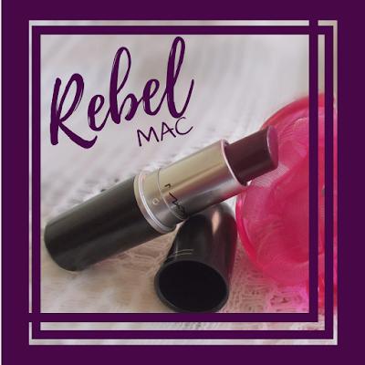 Capa: resenha batom Rebel da MAC