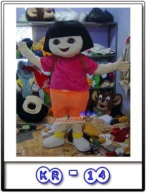 Jual Kostum Badut Karakter Dora The Explorer Kr-14