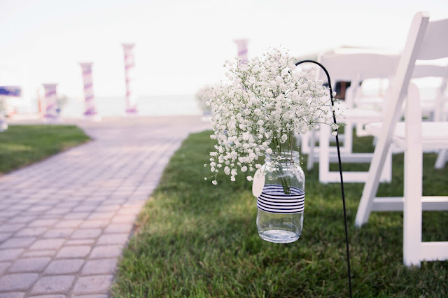 waterfront wedding decor nautical themed