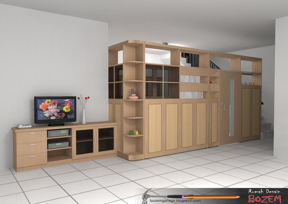 Rumah Desain Bozem LEMARI PARTISI Jati Handap