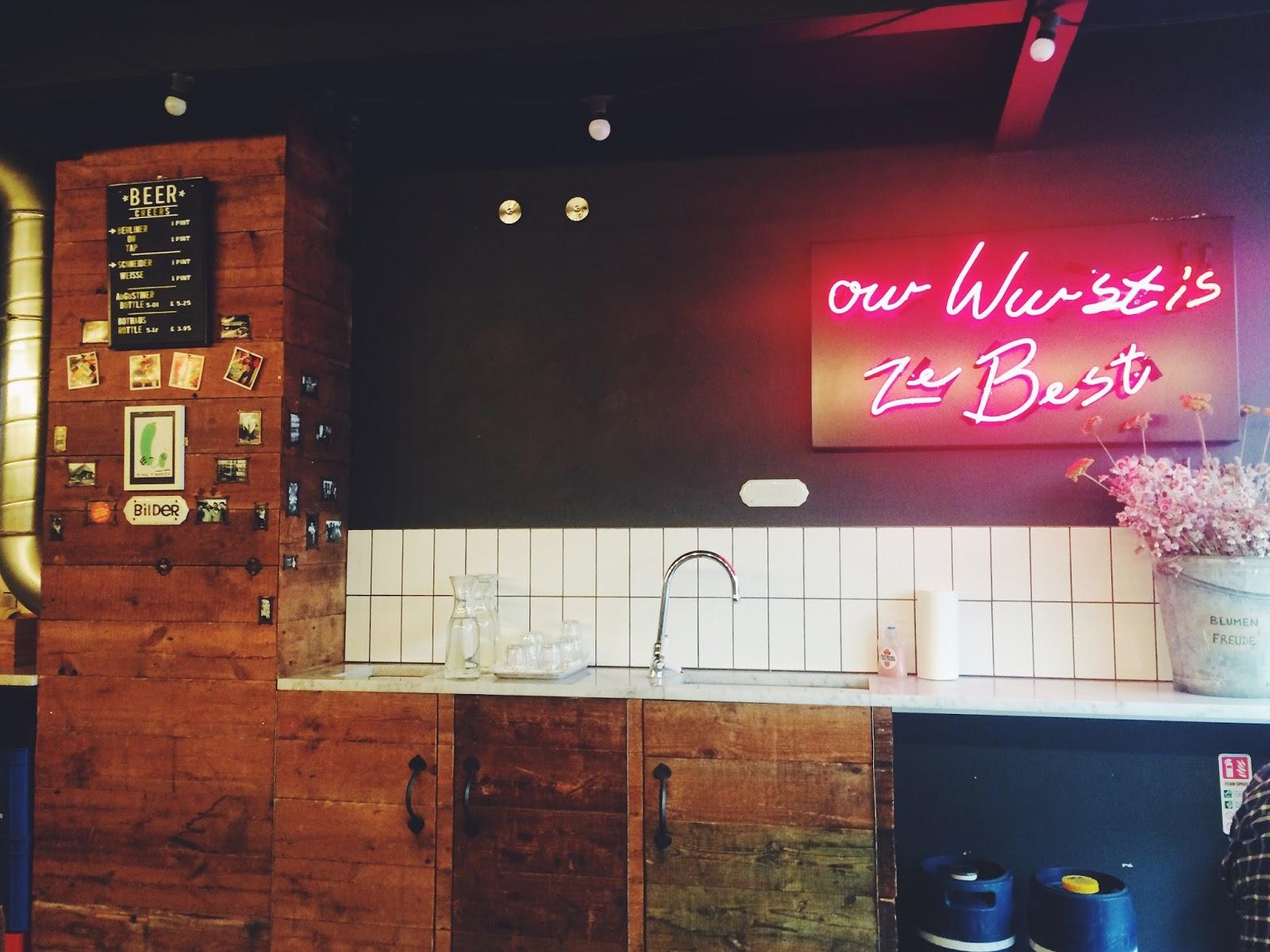 Herman ze German Soho review, places to eat Soho, food bloggers, UK food blog, Dalry Rose Blog
