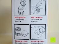 Anleitung: Health Enterprises - Hochwertige Pillendose / Pillenschneider und Tablettenmörser in einem - Ideal zum aufbewahren, zerkleinern, zerteilen von Tabletten und Pillen