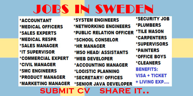 job offers in sweden for foreigners