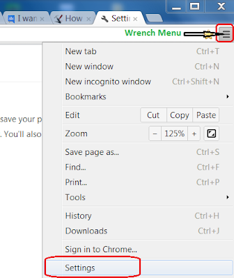 Set Default Home Page in Google Chrome