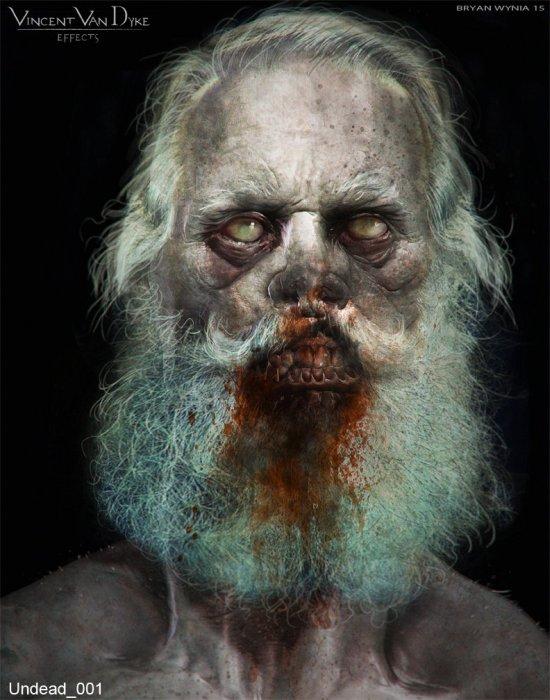 Bryan Wynia artstation arte ilustrações modelos 3D fantasia terror monstros filmes games sombrio