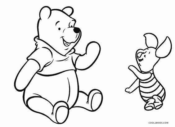 Tranh cho bé tô màu gấu Pooh 12