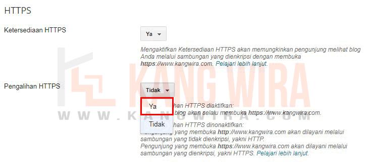 Pengalihan HTTP ke HTTPS secara Otomatis