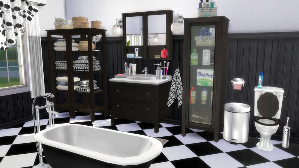IKEA Bathroom Set And Clutter By Natatanec