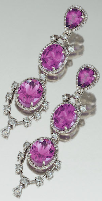 Earrings: Amethyst and diamond parure, Michael Youssoufian.