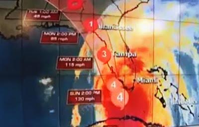 El huracán Irma se fortalece entrando por florida sur de Estados Unidos