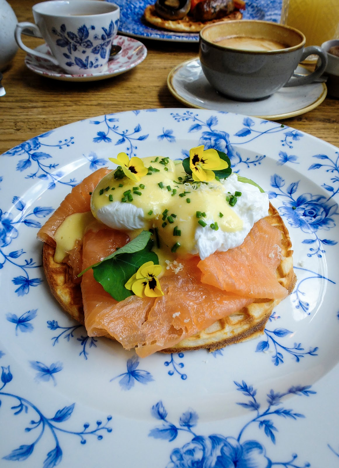 A gorgeous brunch in Violets Cafe, Newcastle Upon Tyne