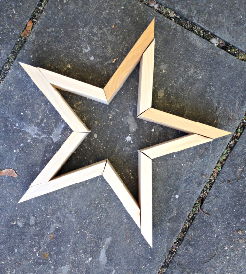 how to make ninja stars out of wood