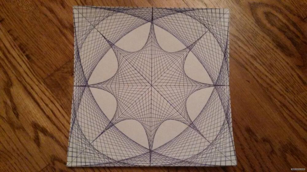 هذه الرسمة تم عملها كلها بواسطة خطوط مستقيمة