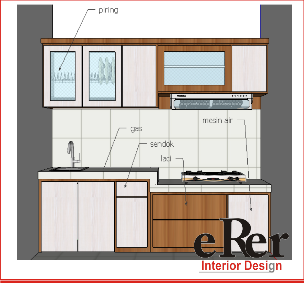 Erer interior kitchen set solo kitchen set jogja for Harga granit untuk kitchen set