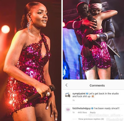 Nigerian singer, Simisola Bolatito reveals she would be reigniting the flames of love between her and falz.