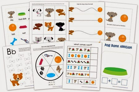 Preschool Dog Printables