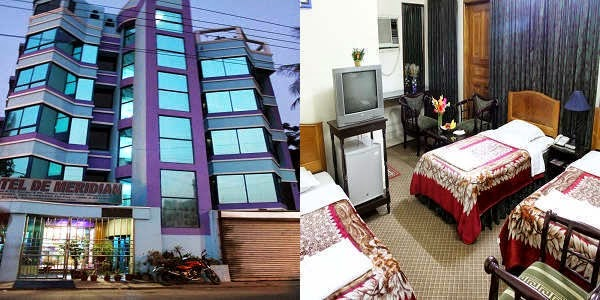 Room rates of Hotel De Meridian and Hotel Sweet Dream in Dhaka
