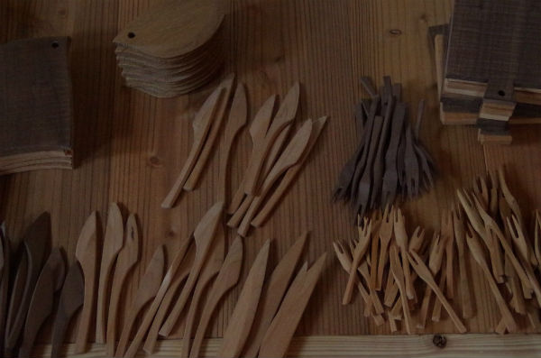 バターナイフ、ミニカッティングボード、ミニフォーク
