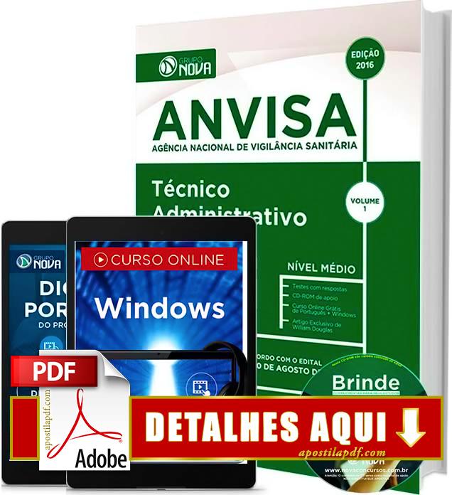 Apostila ANVISA 2016 Técnico Administrativo Impressa