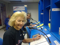 73-yr-old Gloria and Aldo controlling Space Shuttle launch.jpg