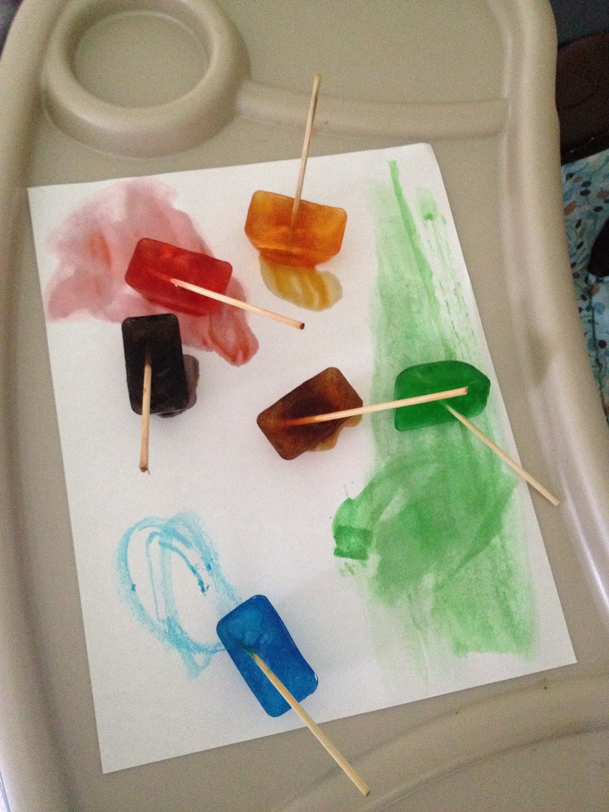 Playing outside of the box ice cube painting - How warm does it have to be to paint outside ...