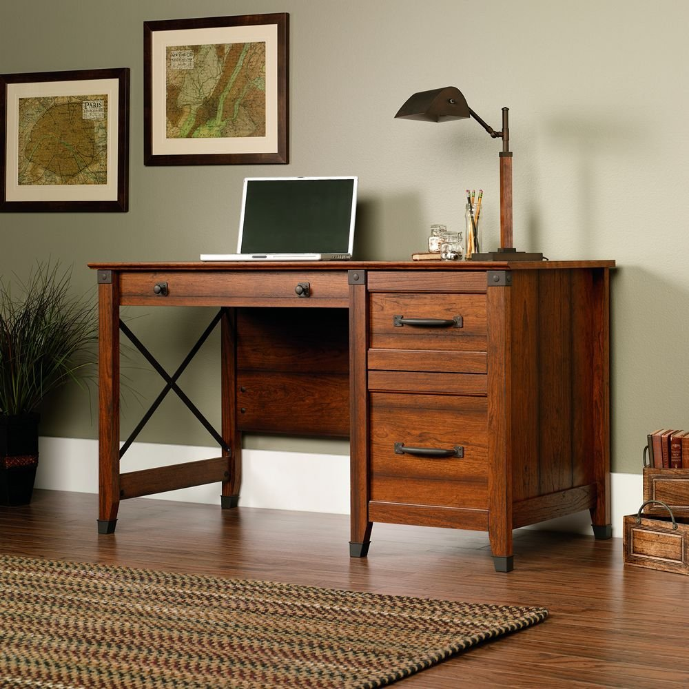 Computer Desk With Two File Drawers For Small Home Office Bedrooms