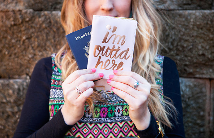 15+ Of The Best Traveler Gift Ideas Besides Actual Plane Tickets - I'm Outta Here Passport Cover