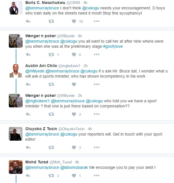 Twitter reacts as Senator Ben Murray-Bruce asks for Chierika Ukogu's phone number