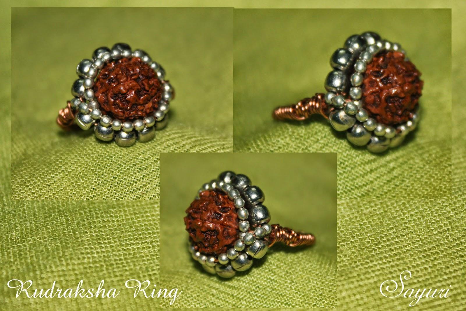 rudraksha bead ring Divya N @sayuri www.jewelsofsayuri.com