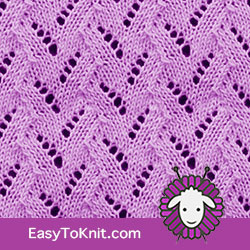 Eyelet Lace 35: Faux Braid | Easy to knit #knittingetitches #eyeletlace