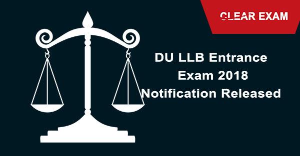 DU LLB Entrance Exam 2018 Notification