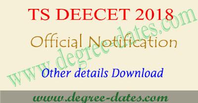 TS Deecet notification 2018, dietcet online apply, exam date, eligibility Telangana