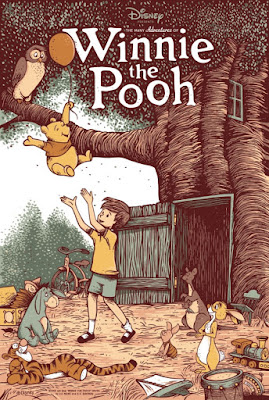 The Many Adventures of Winnie the Pooh Screen Print by Adam Johnson x Cyclops Print Works x Disney