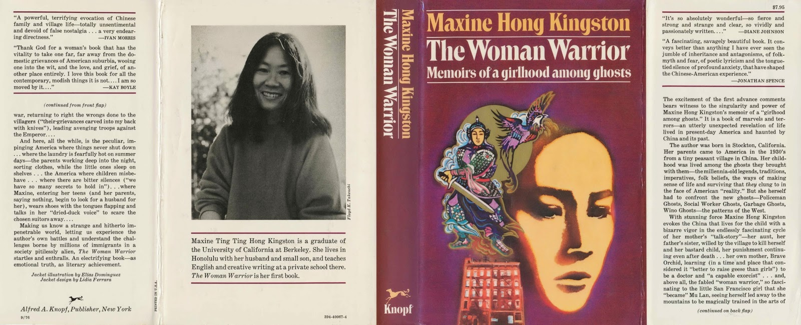 summary of no name woman by maxine hong kingston In my thesis i examine how maxine hong kingston depicts a young girl's tough   begins to tell about the tragic life story of her silent aunt - no-name woman.
