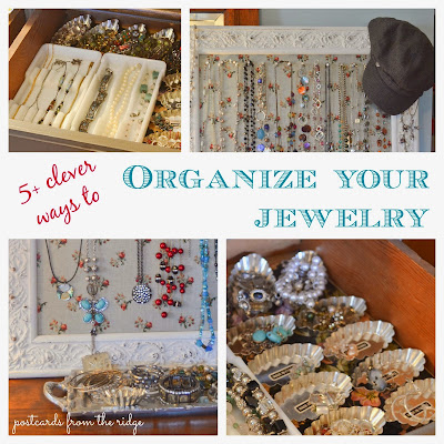 Creative Ideas for Organizing Jewelry. So fun and clever! #organize