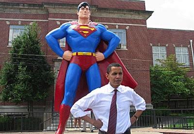 Foto de Barack Obama posando por las calles