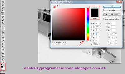 colores para máscara de capas con Photoshop