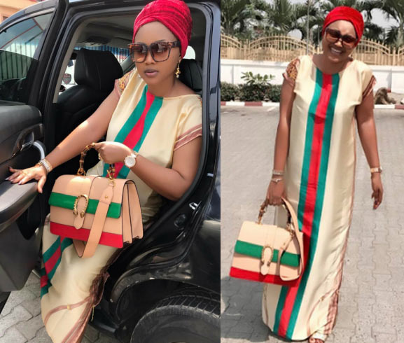 Mercy Aigbe steps out in Gucci dress + Gucci dress