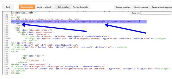 Java script for Adsense