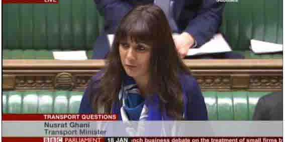 Ghani Perempuan Muslim pertama berbicara di mimbar di parlemen Inggris