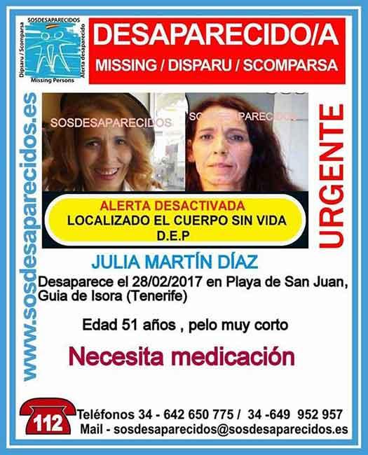 Encuentran sin vida mujer desaparecida Guía Isora, Tenerife