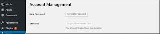 Account management in wordpress website